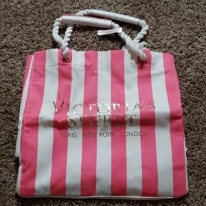 Victoria's Secret Pink & White Tote NWT
